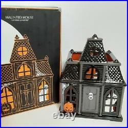 Bath & Body Works HAUNTED HOUSE Candle Luminary Halloween Decor 2010 Slatkin