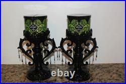 Bath & Body Works Halloween Goth Black/Purple Bats Pedestal Candle Holders2020