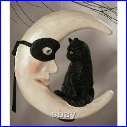Bethany Lowe Hallow's Eve Cat On Moon TD9050 Free Ship