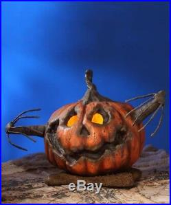 Bethany Lowe Large Scary Into the Woods Pumpkin Centerpiece Halloween Decor