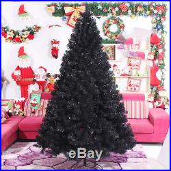 Black Christmas Tree Xmas Undecorated 3 4 5 6 7 8 ft Holiday Unlighted Artifial