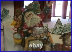 Boardwalk Originals Vintage Wood Christmas Fireplace Screen