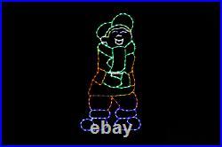 Boy Juggling/Tossing Snowballs Led Metal Wireframe light display yard decoration