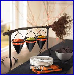 Broomstick Snack Bowl Stand For halloween haven