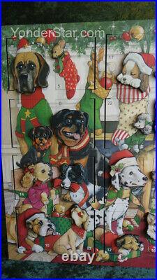 Byers' Choice Heirloom Wooden Advent Calendar Dog Breeds AC22 NIB