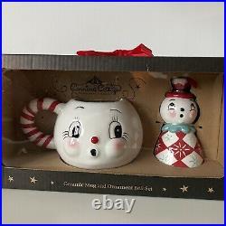 Carnival Cottage by Johanna Parker Magenta Snowman Mug & Bell Set Christmas 2020