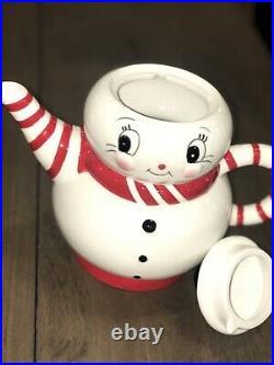 Carnival Cottage by Johanna Parker& Magenta Snowman Teapot! VHTF
