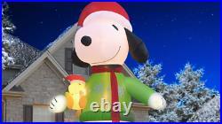 Christmas 16' Ft Snoopy & Woodstock Lighted Yard Decor
