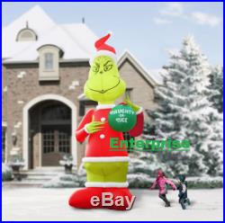 Christmas 18FT Airblown Grinch inflatable DR SEUSS SANTA Lighted Holiday Decor