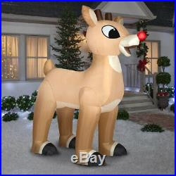 Christmas Decoration Inflatable 10' Standing Rudolph Red Nosed Reindeer