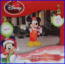 Christmas Gemmy Disney 5.5 ft Mickey Mouse Train Conductor Airblown Inflatable