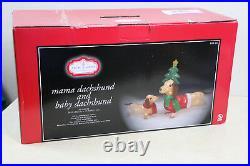 Christmas Lighted Dachshund Wiener Dog Sculpture Light Up Indoor / Outdoor