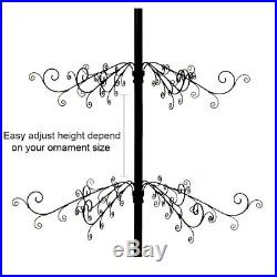Christmas Ornaments Tree Display Metal Wrought Iron Stand 174 Hook 84H