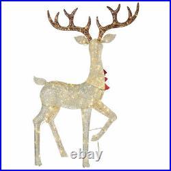 Christmas Reindeer Family Set decoration Bucks LED Lights Indoor/Outdoor snowing
