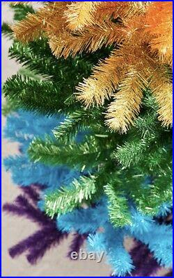 Christmas Tree 5' Rainbow Artificial Christmas Tree Urban Outfitters