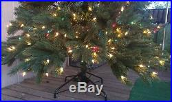Christmas Tree, Balsam Hill, 6'6 Vermont White Spruce withClear + Colored Lights