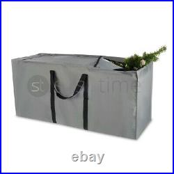 Christmas Tree Zip Up Storage Bag for Up To 7ft/9ft Trees Decorations Grey Sack