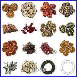 Christmas Wreath Decorations Garland Dried Fruit Artificial Berries Home Decor