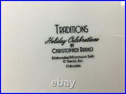 Christopher Radco Christmas Traditions 16 Piece Dishes Set Pre-Owned