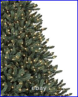 Classic Blue Spruce 6.5 Ft Candlelight Clear LED Artificial Christmas Tree NEW