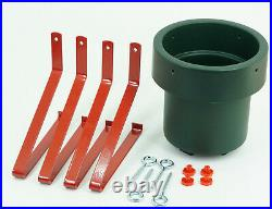 Classic Christmas Tree Stand Real Xmas Trees Green / Red Base Holder Metal Legs