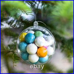 Clear Baubles Empty Fillable Decoration Ornament Christmas Crafts Balls Spheres
