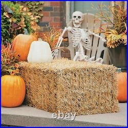 Collapsible Faux Hay Bale Fall Home Decor Front Porch 1 Piece