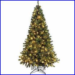 Colorado Green Spruce Pre-Lit Christmas Tree 250 Warm White LED Lights 7FT