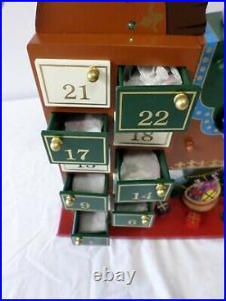 Costco Kirkland Christmas Rocking Horse Santa Advent Calendar with Ornaments
