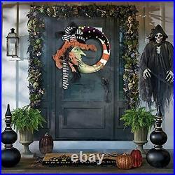 Cute And Unique Witch Halloween Front Door Wreath