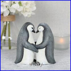 Cute Penguin Couple Ornament Heart Love Christmas Present Gift for Her Him Decor
