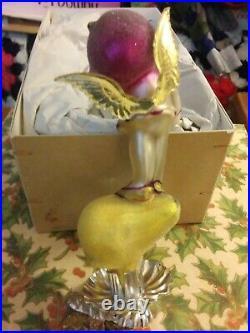 Debbee Thibault-Glass Holiday Ornament Vintage Sugar Plum Fairy ClpOn App 5.5