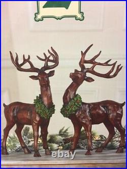 Decorative Deer 2-pack Distressed Pkg