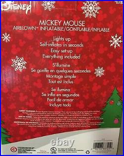 Disney 10.5Ft Mickey Mouse Santa with Candy Cane Airblown Inflatable Christmas