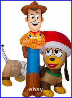Disney 6 ft. Pre-lit Inflatable Woody and Slinky Airblown