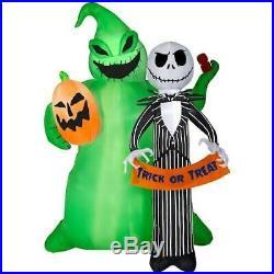 Disney Lighted Jack Skellington Halloween Inflatable 6.49ft