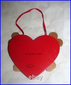Disney VTG Mickey Minnie Mouse Heart Valentine Valentines Day Christmas Ornament
