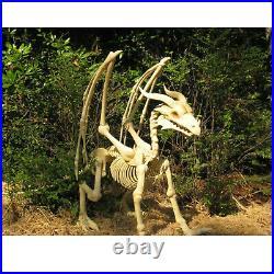 Dragon Skeleton Spooky Christmas Decor Fireplace Yard Entryway Shop Restaurant
