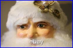 Edler Katherine´s Collection Weihnachtsmann Santa Weiß Gold Samt 63,5cm NEU