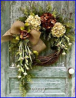 Fall Thanksgiving Wreath, Fall Wreaths, Thanksgiving Wreaths, Autumn Wreaths