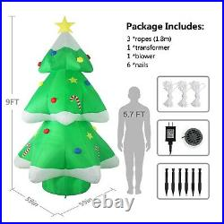 Fashionlite 9ft Christmas Inflatable Tree with Multiolor LED Airblown Decoration