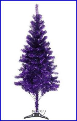 Fawyn 6' Ft Sparking Gorgeous Folding Artificial Tinsel Christmas Tree Purple