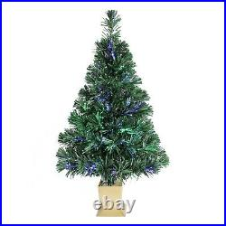 Fiber Optic Concord Christmas Tree 32inch Green Christmas Decoration with Light