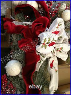 Frontgate 6' Winter Garden Ornament Doorway Mantel Garland Swag Fireplace 61428