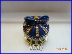 Frontgate Crystal Gems Encrusted Holiday Ornament Stocking Holder Blue. RARE