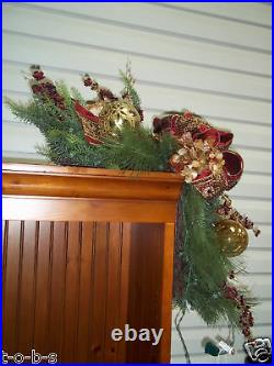Frontgate Portofino Mantel Fireplace Door Enhancers Garland Oranaments Swag 2
