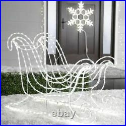 GE 31.5-in Sleigh Sculpture with White LED Lights Christmas Yard Decor