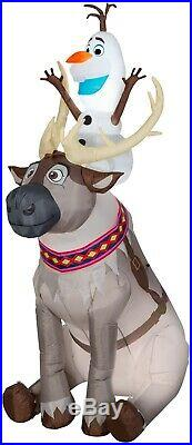 Gemmy 11431 Disney Inflatable Olaf Sitting on Sven Holiday Outdoor Inflatable