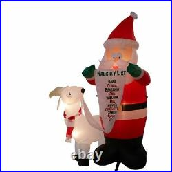 Gemmy 6-ft Lighted Santa with Goat Christmas Inflatable