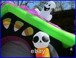 Gemmy Airblown Inflatable Haunted House Arch Archway Entry 8 Ft Tall Halloween